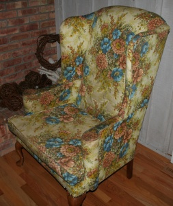 My father-in-law's favorite wingback chair